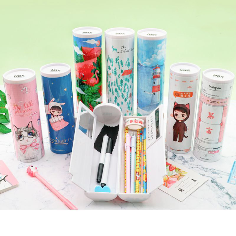 Cute Penal Kawaii Cat Rabbit School Pencil Case For Girls Boys Pen Box Creative Pencilcase Large Bag Big Cartridge Stationery