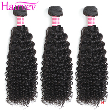 Hairvev Malaysia Kinky Curly Hair Weave Bundles 3 or 4 Bundles Natural Color Human Hair Bundles Remy Hair Free Shipping cheap =10 Malaysia Hair Darker Color Only Dyed Weaving Machine Double Weft