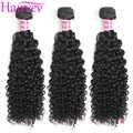 Hairvev Peruvian Kinky Curly Hair Weave Bundles 3 or 4 Bundles Natural Color Human Hair Bundles Remy Hair Free Shipping