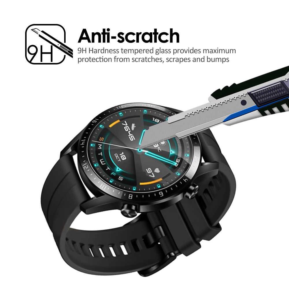 10 Pcs מזג זכוכית עבור Huawei שעון GT 2 מסך מגן 9H ברור נגד שריטות מגן סרט משמר מחוסמת דק