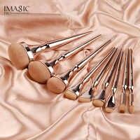 9 шт. Новый IMAGIC набор кистей для макияжа Тени для век Кисточки для макияжа свободная пудра основа щетка высокого класса принадлежности для м...