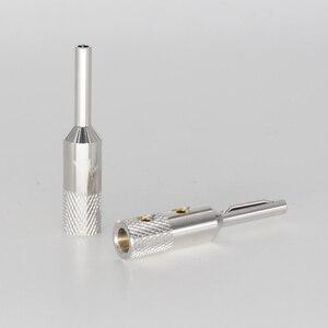 Image 1 - VB401R Viborg Audio 99.99% 순수 구리 품질 로듐 도금 커넥터 앰프 터미널 바나나 스피커 플러그 잭