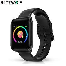 BlitzWolf BW HL1 akıllı saat Erkekler kadın saatleri 8 spor modları smartwatch nabız kan oksijen monitörü bluetooth spor izci bilezik ios android için xiaomi