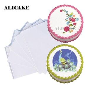100pcs Edible Wafer Sheets Paper Baking Decorating Tools 0.3mm Rice Paper Digital Printing Wafer Cake Topper Decoraion Tools