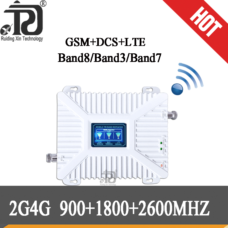 4g Signal Booster 900/1800/2600mhz DCS LTE GSM 2G 3G 4G Mobile Signal Booster 4g 1800 2600 Repeater 900 GSM Cellular Amplifier