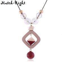 Женское длинное ожерелье для свитера ожерелья и подвески из