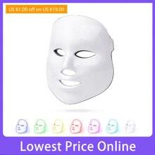 LED Facial Mask Beauty Photon Therapy 7 colors Light Skin Care Rejuvenation Wrinkle Acne Removal Face Beauty Spa Salon tool