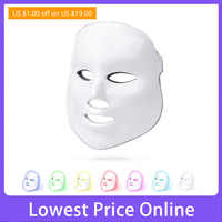 LED Facial Mask Beauty Photon Therapy 7 colors Light Skin Care Rejuvenation Wrinkle Acne Removal Face Beauty Spa Salon tool