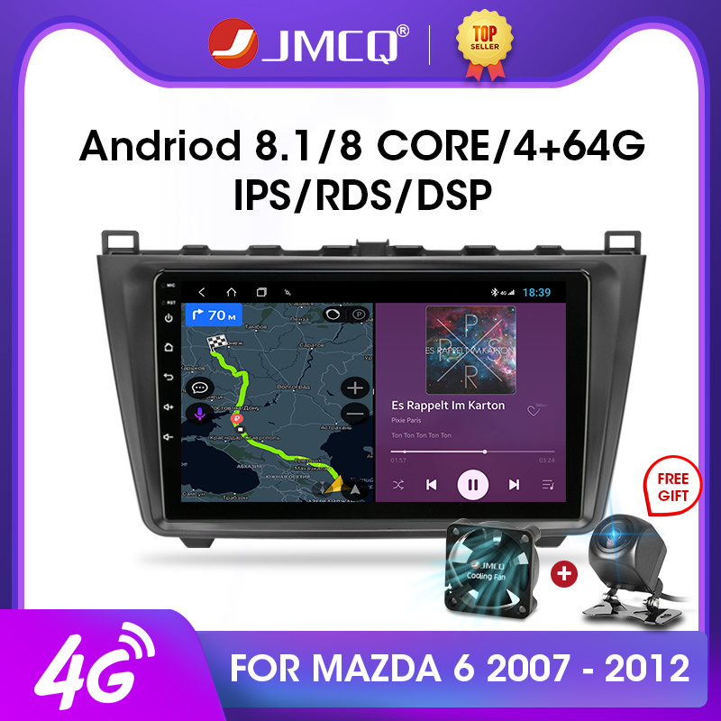 JMCQ 2din Android 9.0 Car Radio Multimidia Video Player RDS DSP For <font><b>Mazda</b></font> <font><b>6</b></font> Rui wing 2007-2012 <font><b>Navigation</b></font> <font><b>GPS</b></font> 2 din Head Unit image