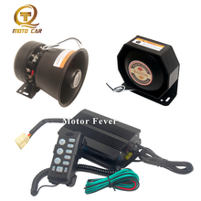 Electric Horn for Car 12V Universal Vehicle Alarm Auto Warning Siren Tone Speaker 400W Police PA MIC System Megaphone