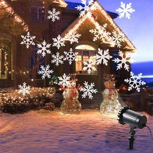 Image 2 - 방수 이동 눈송이 레이저 프로젝터 라이트 크리스마스 새해 led 무대 조명 야외 스노우 파티 정원 조경 램프