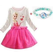 3 8 Years Summer Baby Girl Dress Princess Vestidos Fever Anna Elsa Dress Children Clothing For