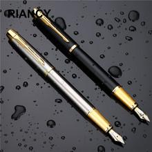 Luksusowe metalowe wieczne pióro prezent wysokiej jakości metalowe pisanie podpisywanie kaligrafii długopisy biurowe szkolne artykuły biurowe 03923 tanie tanio noverty Standardowy typ Luźne 0 5mm Iraurita Inne metale