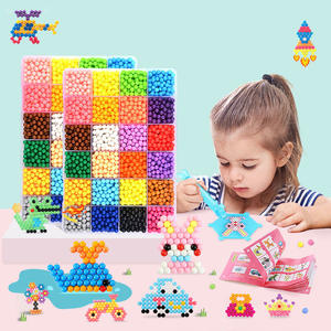 Toys Puzzle Beads Educational-Beads DIY Kids Animal-Molds Hand-Making 3D for Children