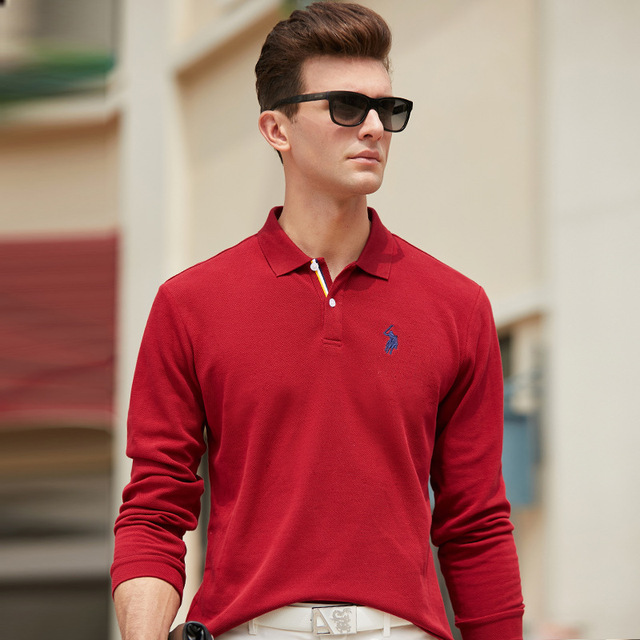 High Quality Tees Solid color Men Polo 3D