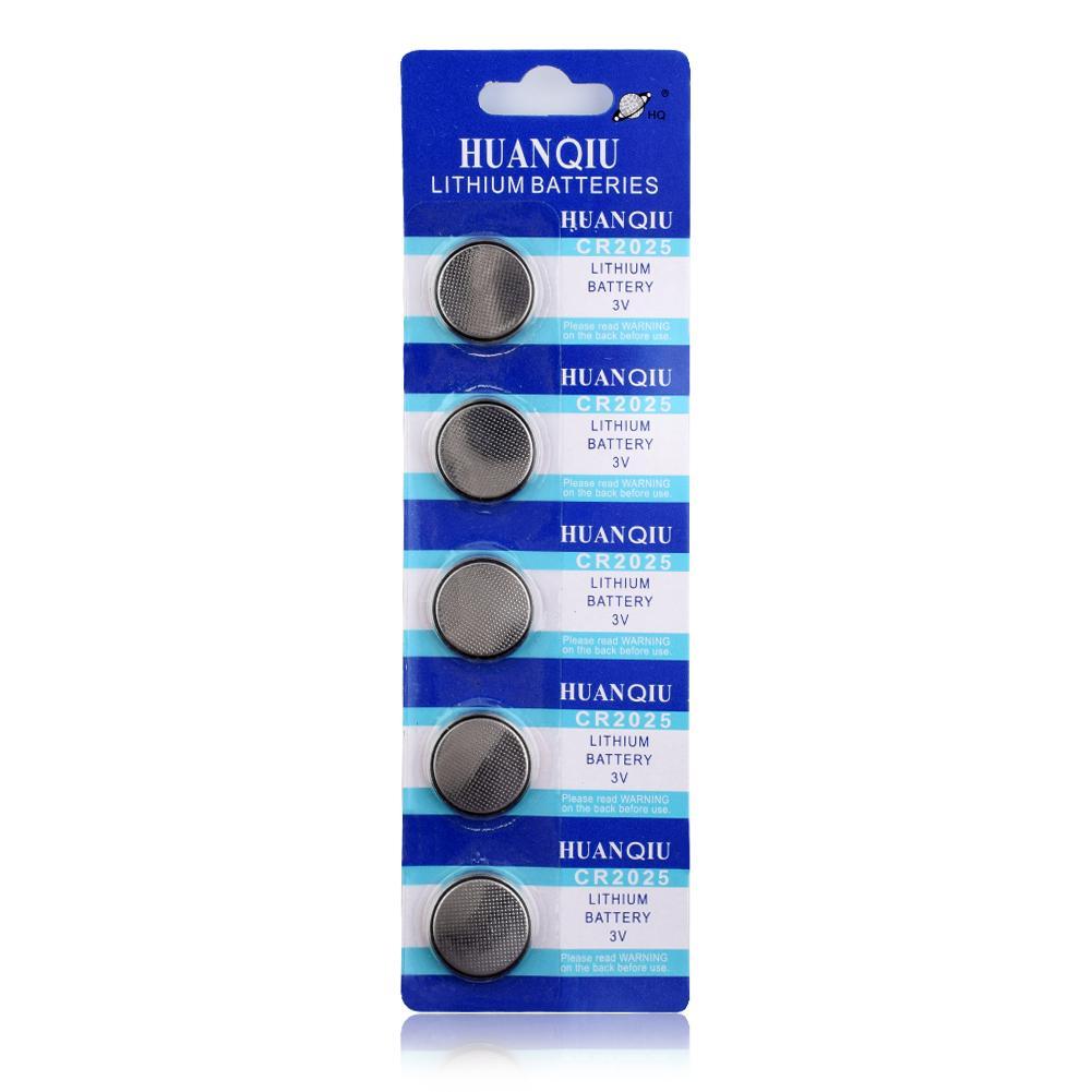 5Pcs 3V CR2025 CR 2025 Lithium Watch Clock Battery Button Coins Celula Pilas For Watch Toys Calculators ECR2025 BR2025 DL2025