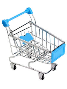 Toy Handcart Storage Gift Supermarket Mini Metal Desktop-Decoration Creative