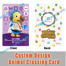 Wilbur Orville Daisy Mae Raymond Animal Crossing Card PVC Printing Card Not NFC Function for Collection Purpose only(China)