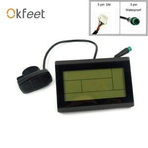 Image 1 - Okfeet kt lcd3 display ebike display lcd bicicleta elétrica led 72 v lcd3 kt lcd para controlador de bicicleta elétrica