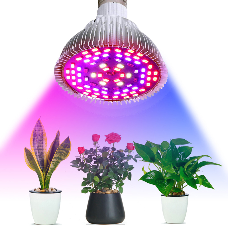 E27 Full Spectrum Plant Grow Led Light Bulbs 10W 30W 50W 80W 100W Plant Lamp For Indoor Greenhouse Flower Seed Garden Vegetables
