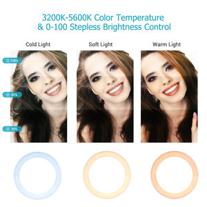 Image 4 - 18 Inch LED Ring Light Photography Lighting 3200K 5600K Stepless Dimmable with 3 Phone Holders Remote Control for Live Streaming