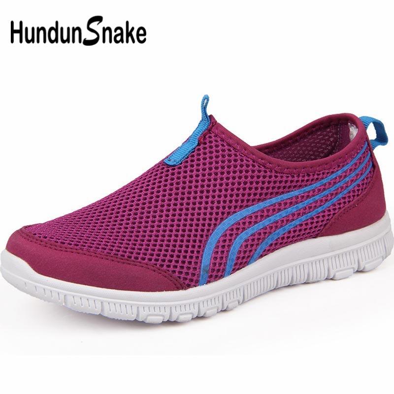 Hundunsnake Slip-On Women's Sneakers Woman Sports Shoes Sport Women's Running Shoes 2019 Summer Training Purple Trainers B-067