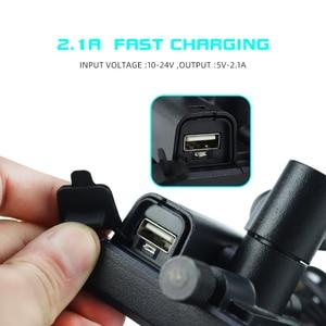 Image 5 - Aluminiowy uchwyt na telefon do motocykla USB uchwyt z ładowarką 360 stopni motocykl motor kierownica rearview telefon wsparcie góra