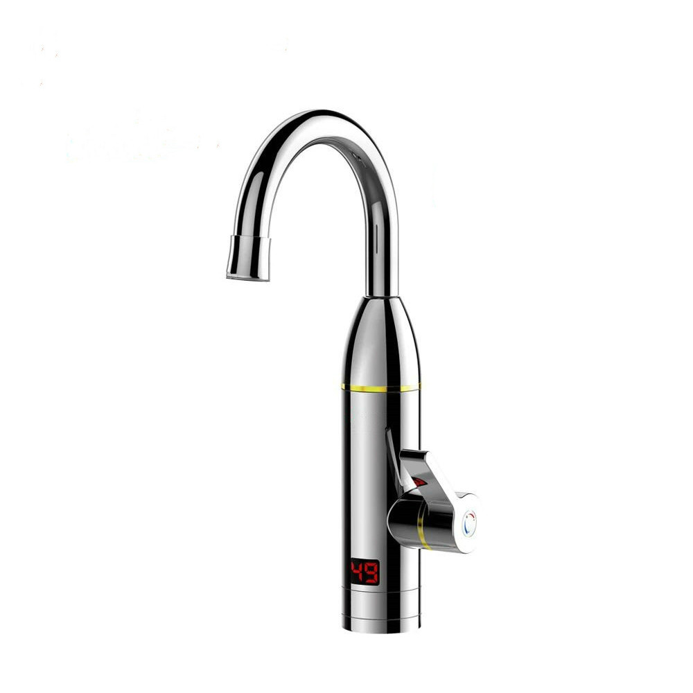 DMWD Electric Kitchen Instant Heating Faucet Heater Hot Cold Dual-use Tankless Water Quickly Heating Tap Shower With LED Display