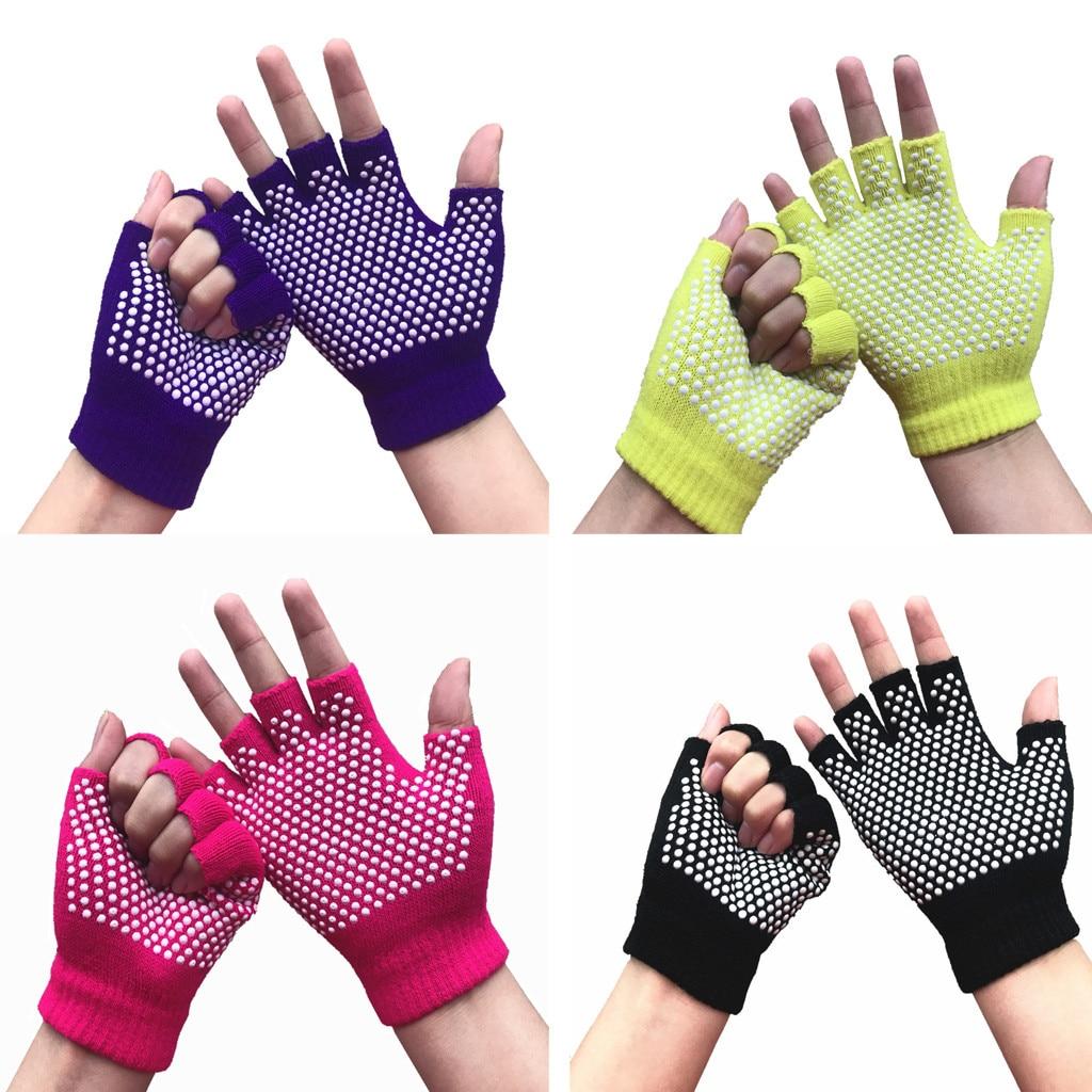 Sports Semi Finger Gloves Yoga Sports Anti Slip Semi Finger Gloves Winter Guantes Handschoenen Rekawiczki Fingerless Gants Femme