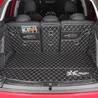 Tapete tronco do carro para bmw mini cooper s f54 f55 f56 f60 r55 r56 r60 clubman estilo do carro acessórios totalmente envolto almofada protetora|  -