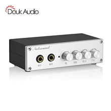 Douk Audio Mini Karaoke Mixer with Dual Microphones for Home KTV System Stereo Preamp Effector Echo Mixer Sound Console