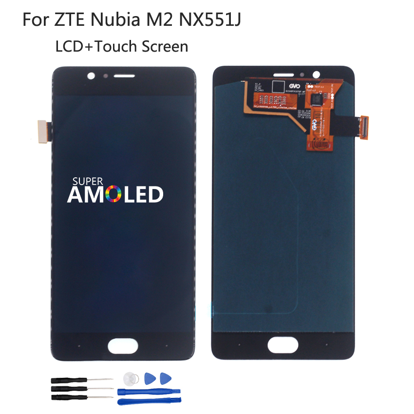 Original For ZTE Nubia M2 NX551J LCD Display Touch Screen Digitizer Repair Parts For Nubia M2 Screen LCD Display Assembly(China)