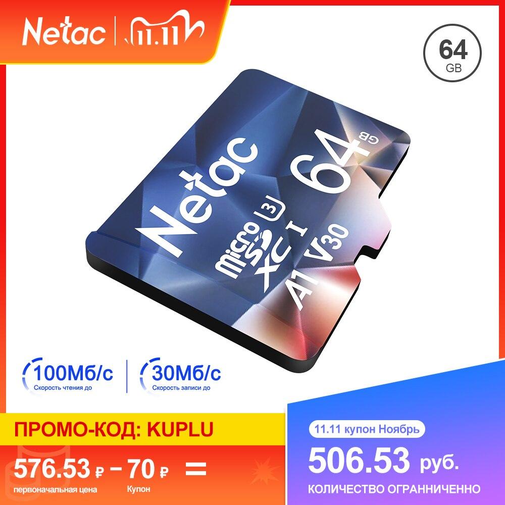 Netac Memory Card micro sd 128GB 32GB 16GB 100MB/S 64GB Micro SD Card адаптер sd Flash Card SD Card Hot Sale P500 6
