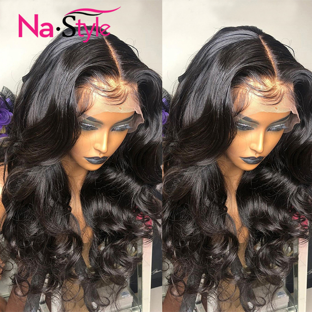 Transparent Lace Wig 250 Density Lace Front Wig Invisible Lace Front Human Hair Wigs Body Wave Preplucked Lace Wig Brazilian 4