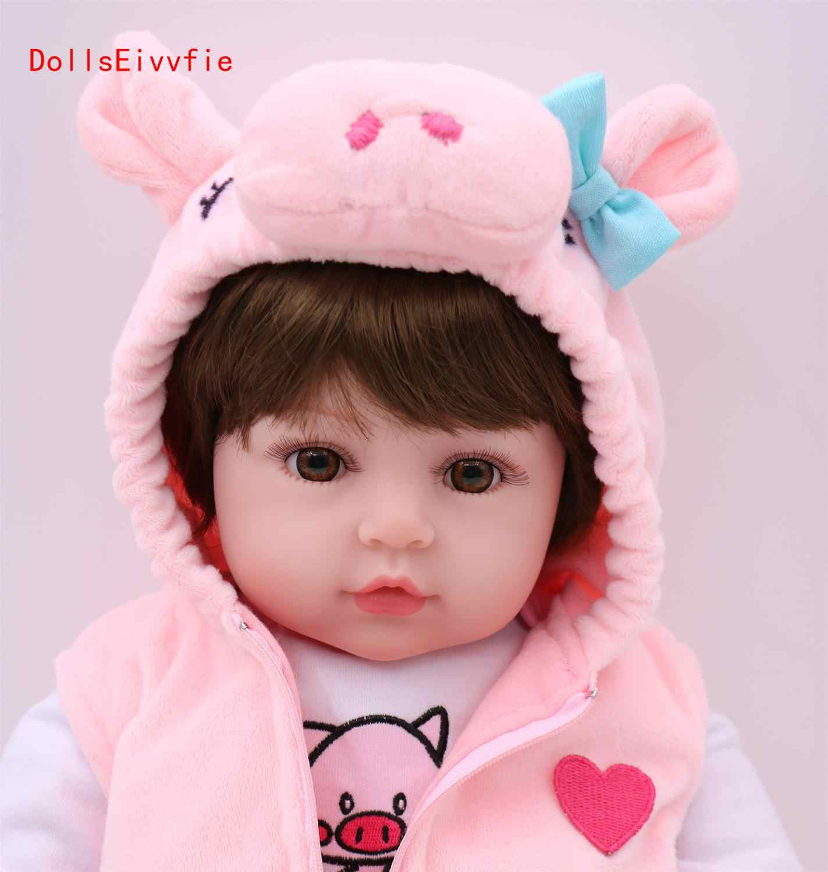 Bebes tái sinh 47cm Giày Búp Bê Cho Bé gái Silicone mềm Boneca Tái Sinh Brinquedos Bonecas ngày trẻ em Quà Tặng đồ chơi lol