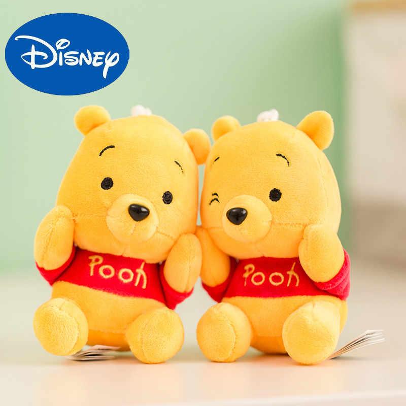Oryginalny Disney Doll nadziewane zabawki pluszowe zwierzęta miękkie Baby Boy dzieci zabawki dla dzieci dziewczyny chłopcy Mini kubuś puchatek wisiorek klucz