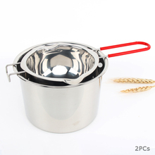 304 Stainless Steel Double Boiler Pots With Box Chocolate Melting Pot Milk Bowl Butter Candy Warmer Pastry Baking Tools