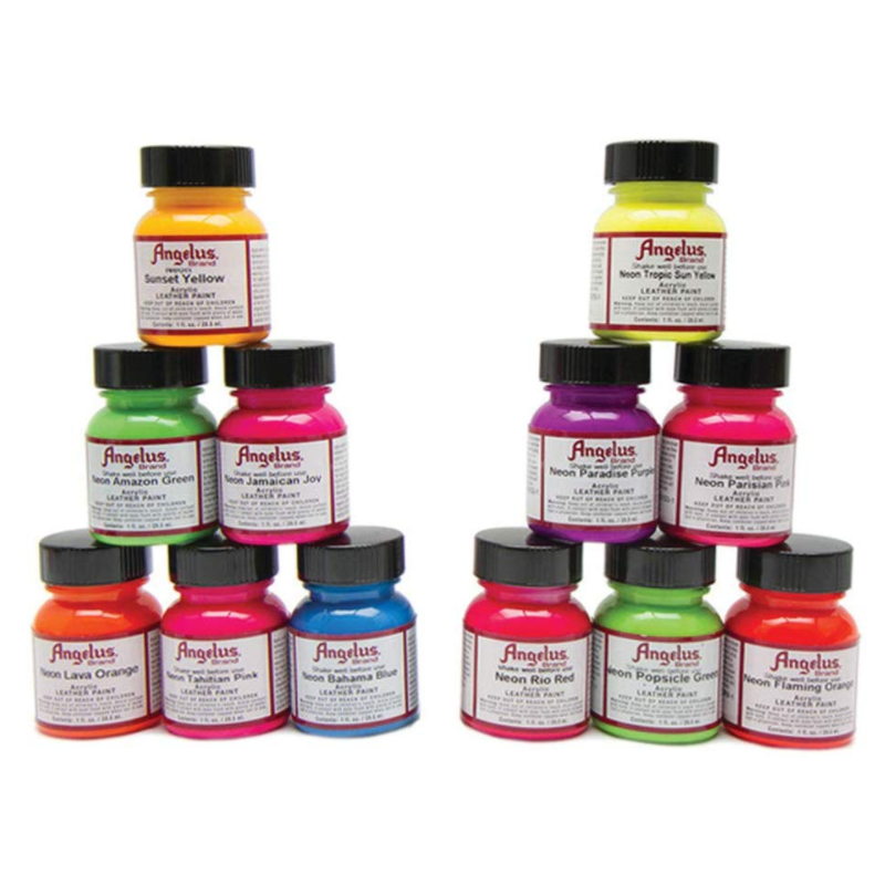 Leather Neon Shoes Paint Hand-Painted Custom Canvas Sneakers Coloring Agent 25ml/118ml  Acrylic Paints  Color Pigment