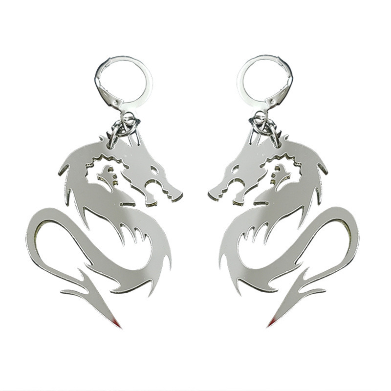 2020 Trendy Acrylic Dragon Earrings for Women Alternative Fashion Geometry Statement Cool Earrings Teens Teens Hanging Jewelry