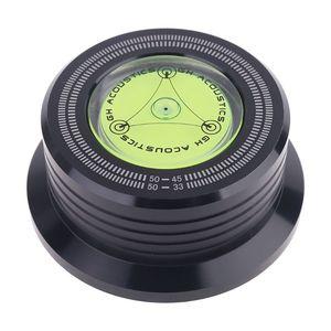 Image 3 - אוניברסלי 50Hz LP ויניל שיא אודיו דיסק פטיפון מייצב אלומיניום משקל מהדק עם מבחן מהירות בועה