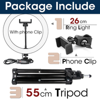 26cm and 55cmTripod