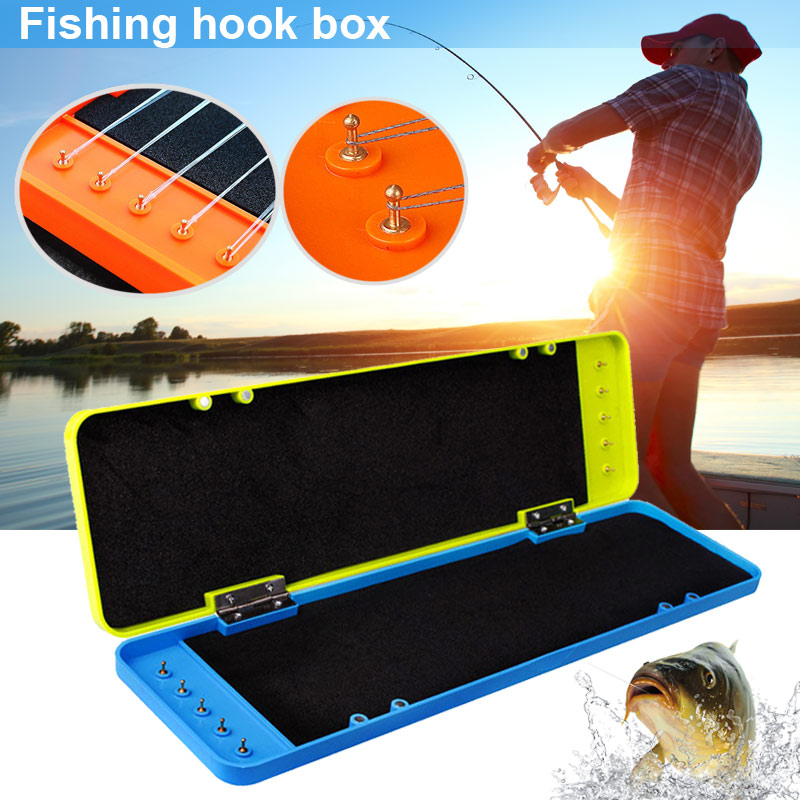 Newly Tackle -Fishing Rig  Hook Box Case Large Capacity Durable ABS Drop-proof Accessories  C55K Sale