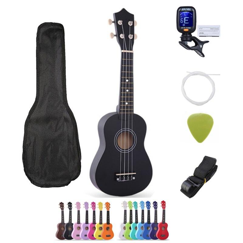 SevenAngel 21 polegada Crianças 4 Cordas Soprano Ukelele Havaiano Ukulele Uke Guitarra Basswood Spruce Caçoa o Presente Instrumento Musical