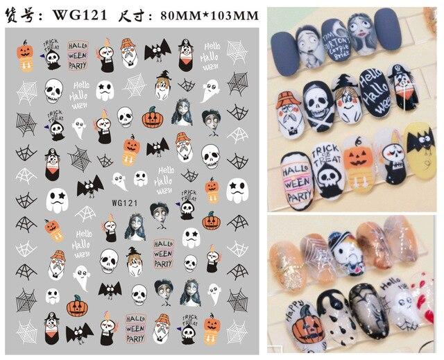 morixi хэллоуин наклейки для ногтей детей вечерние украшения фотография