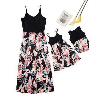 highwaist tank mother and daughter dresses matching mommy and me clothes family look mom mum baby and girls dress family outfits недорого