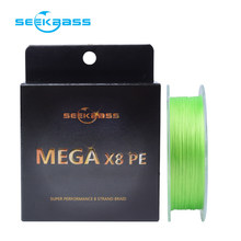 цена на SEEKBASS X8 Upgrade PE 8 Braid Fishing 100M PE Line Japan Imported High Quality Goods Fishing Line