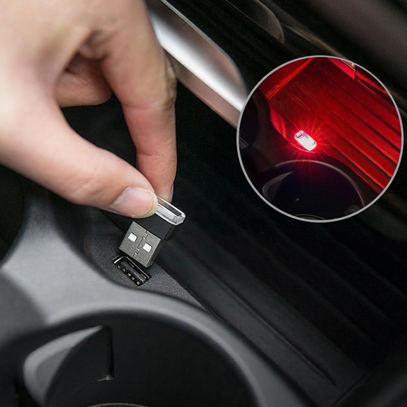 7 Colors Mini USB LED Car Ambient Light For Mercedes Benz W205 W204 W203 W211 W210 W212 W222 GLK GLS GLS ML GLA AMG Accessories