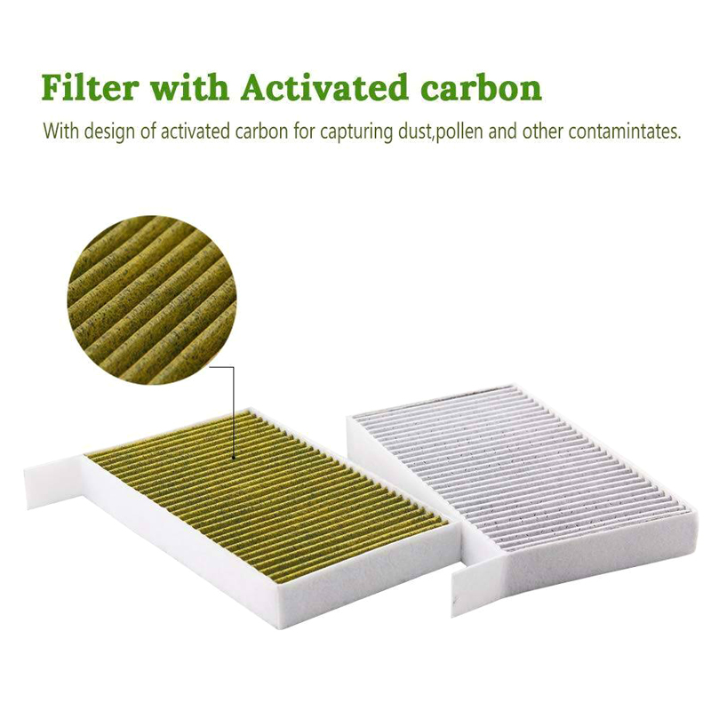 Car Cabin Air Conditioning Filter With Activated Carbon For Tesla Model 3 2017 2018 2019 M8617