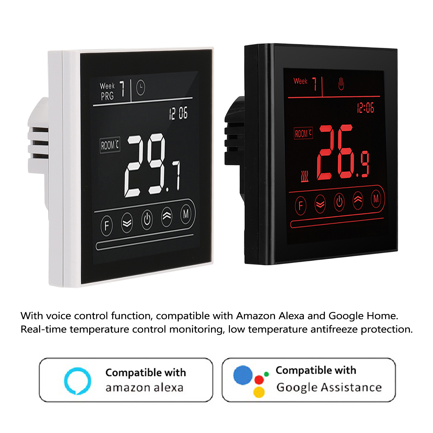 Electric Heating Termostato Wifi APP Remote Control Intelligent Thermostat LCD Touching Screen For Alexa Google Home