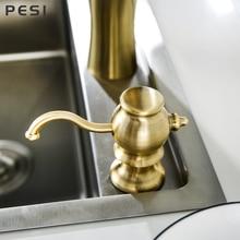 Brass Kitchen Soap Dispenser Sink Liquid Soap Bottle Bathroom Detergent Liquid Hand Wash Soap Dispenser Pumps,Brushed Gold.